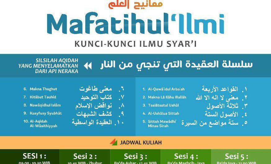 KULIAH MAFAATIIHUL 'ILMI (Pertemuan ke 7)