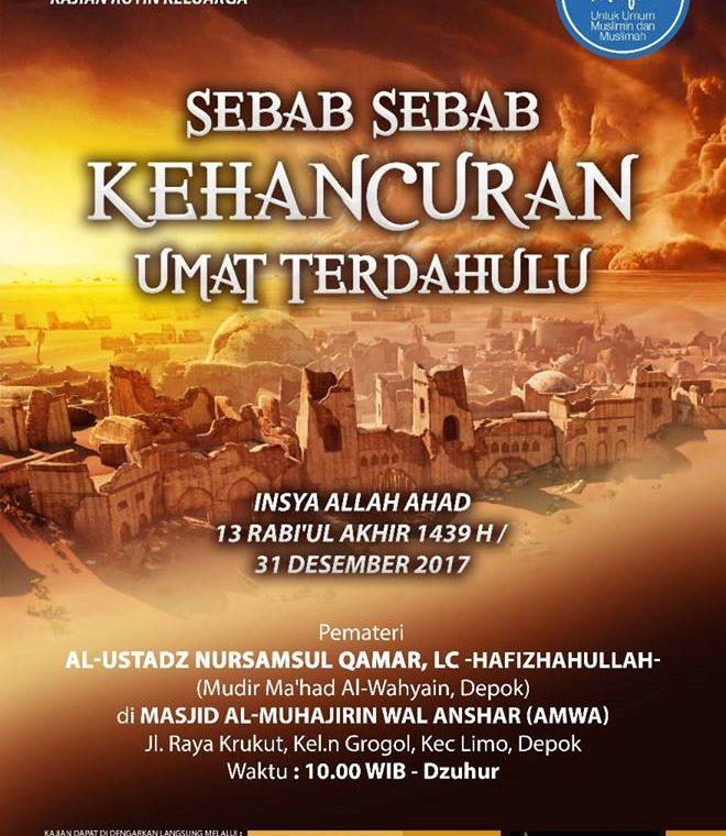 Sebab-Sebab Kehancuran Umat Terdahulu – Masjid AMWA